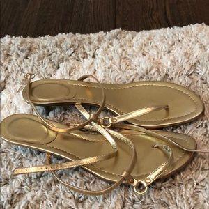 Shoes - JCrew Gold Sandal